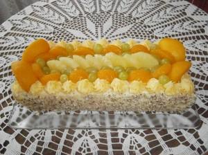 Řezy ovocné s tvarohovým krémem