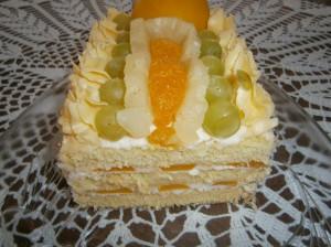 Ovocné řezy s tvarohovým krémem