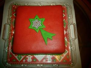 Vánoční dort s kometou