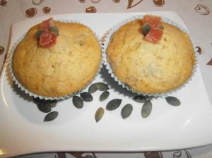 Muffiny s dýňovými semínky