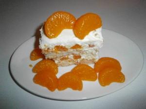 piškotový dezert s mandarinkamimi