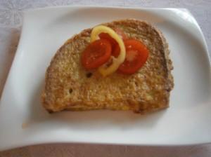 Opečený chléb s vejci
