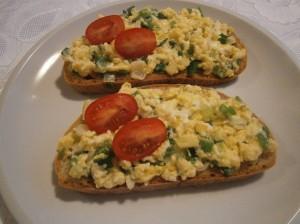 Míchaná vajíčka s chlebem