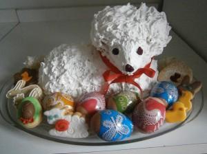 Velikonoční beránek s bílkovým sněhem