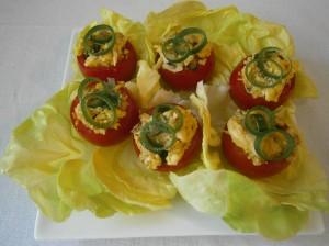 Plněná rajčata kuřecím masem