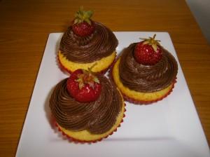 Muffiny s čokoládovým krémem