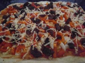 Pizza se sušenými rajčaty
