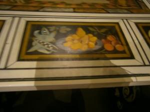 Část výzdoby přijímacího stolu