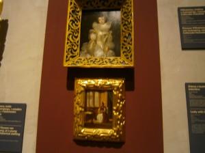Obrázky, které se nacházejí na zámku Žleby