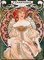 Alfons Mucha - F. Champenois Imprimeur Éditeur,litografie 1897