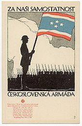 Vojtěch Preissig - Československá vojenská pohlednice