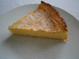 Tvarohový citronový dort