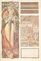 Alfons Mucha - Plakát k rakouskému pavilonu, 1900