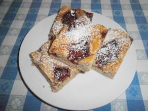 Ořechový mřížkový koláč