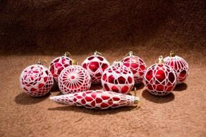 Obháčkované vánoční ozdoby
