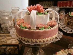 Dvojposchoďový dort ze začátku minulého století