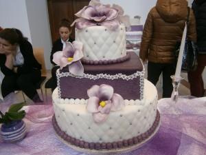 Svatební dort kombinovaný