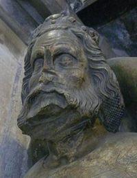 Detail Přemyslova náhrobku od Petra Parléře