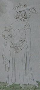 Jan jako český král na vyobrazení ze Zbraslavské kroniky