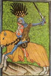 Jezdecký portrét Jana v Gelnhausenově kodexu