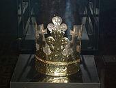 Koruna nalezená v Přemyslově hrobě v chrámu svatého Víta