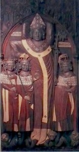 Náhrobek Petra z Aspeltu se třemi králi (Jan Lucemburský, Jindřich VII. Lucemburský, Ludvík IV. Bavor)