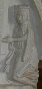 Přemysl Otakar I. (tympanon kláštera sv. Jiří)