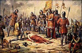 Přemysl Otakar II. padlu u Suchých Krut v den sv. Rufa 1278
