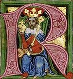 Václav II. - miniatura ve Zbraslavské kronice