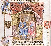 Ilustrace Žofie a Václava IV.