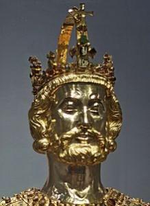 Relikviářová busta sv. Karla Velikého