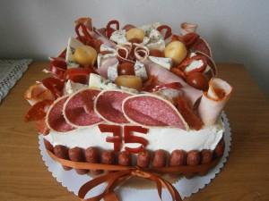 Slaný dort pro dědečka