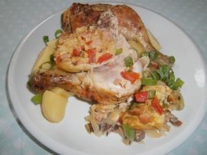 Kuře plněné paprikovou nádivkou