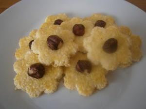 Kokosové sušenky s lískovým oříškem