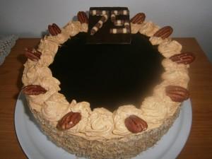 Kakaový dort s čokoládou