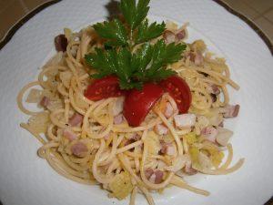 Špagety s kapustou